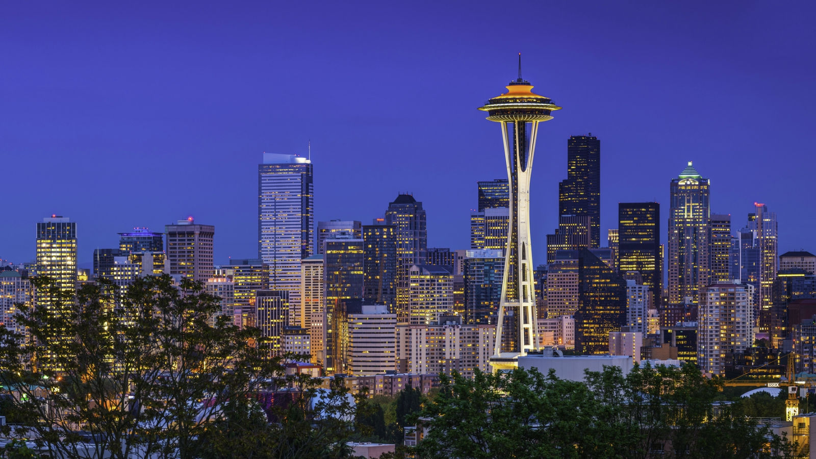 Seattle Attractions - Space Needle at Dusk